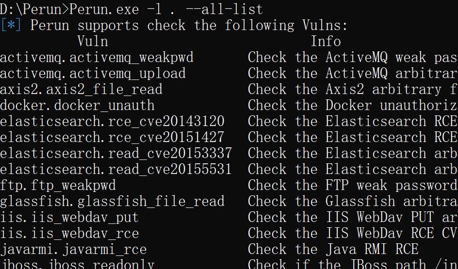 Perun安服网络资产扫描框架